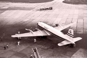G-AHLT B.O.A.C Canadair C4 Argonaut (ln 165) , FRA 1958