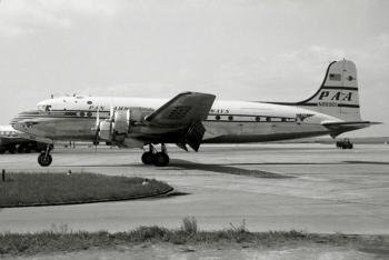 """DC-4 (ln 10506) """"Clipper Stuttgart"""", FRA 1958"""